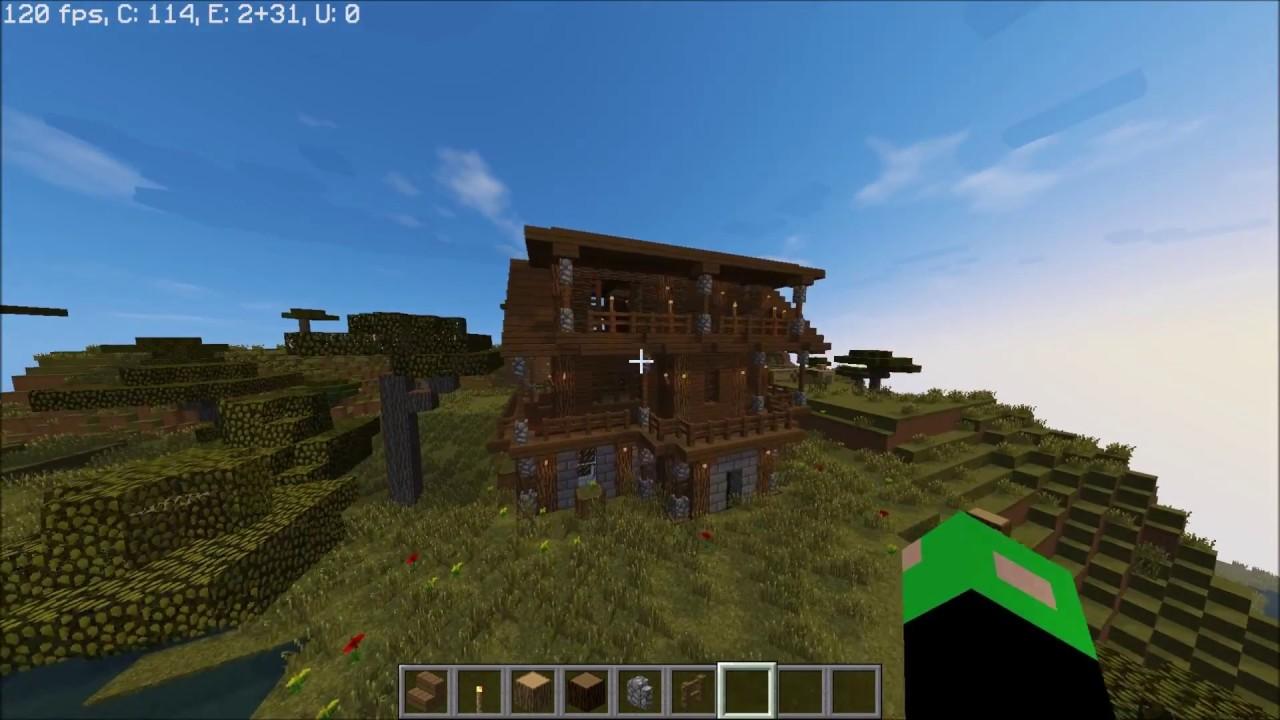 Minecraft holzhaus bauen teil 2 youtube for Minecraft holzhaus