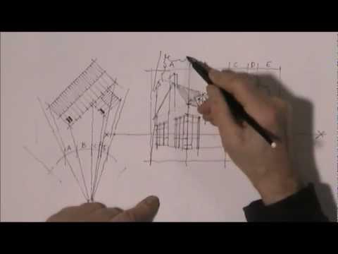 Kleines Haus Lageplan Und Perspektive Architekturskizzen