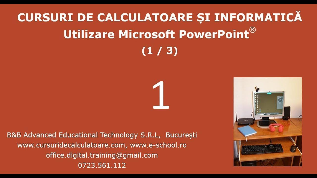 Curs de PowerPoint incepatori-1/3-Office 2016-Prezentari, slide-uri,imagini, inserari de obiecte