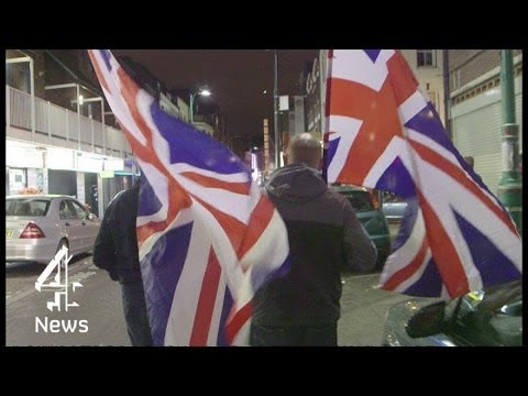 On the streets with far-right extremists Britain First | Channel 4 News