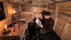 Log Cabin Life: First Night in the Off Grid Pallet Wood Cabin