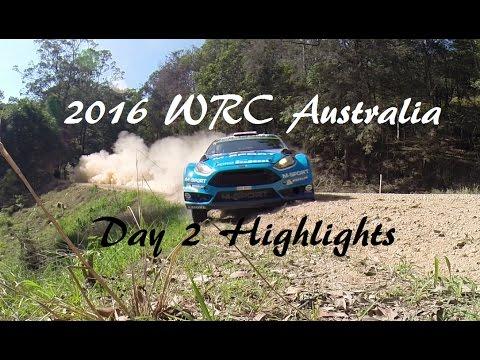 WRC 2016 Australia, Day 2 Highlights *TRACK SIDE*