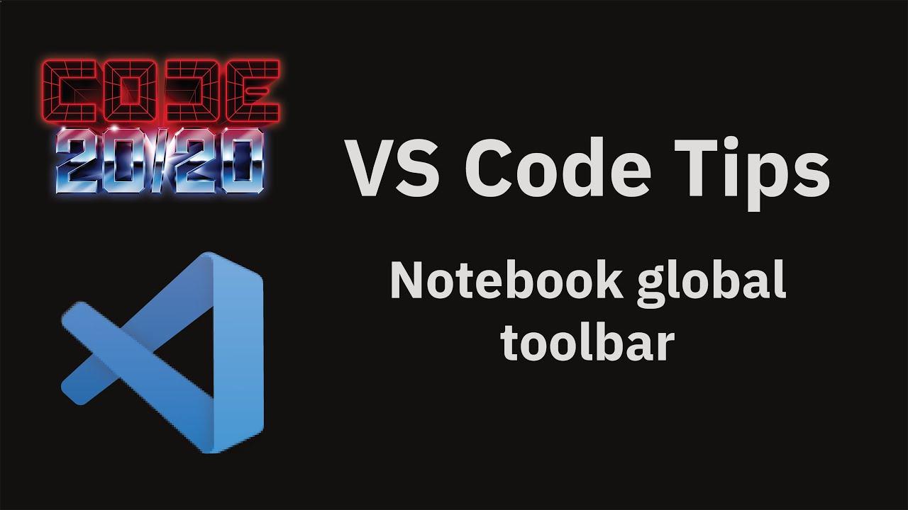 Notebook global toolbar