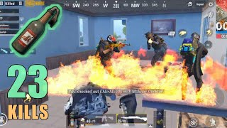 THIS IS WHY MOLOTOV IS OP!!! | 23 SOLO KILLS | RANDOM SQUAD | PUBG MOBILE
