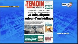 La revue des titres lue et commentée en wolof par Abdoulaye Bob