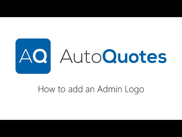 How to add an Admin Logo in AQ
