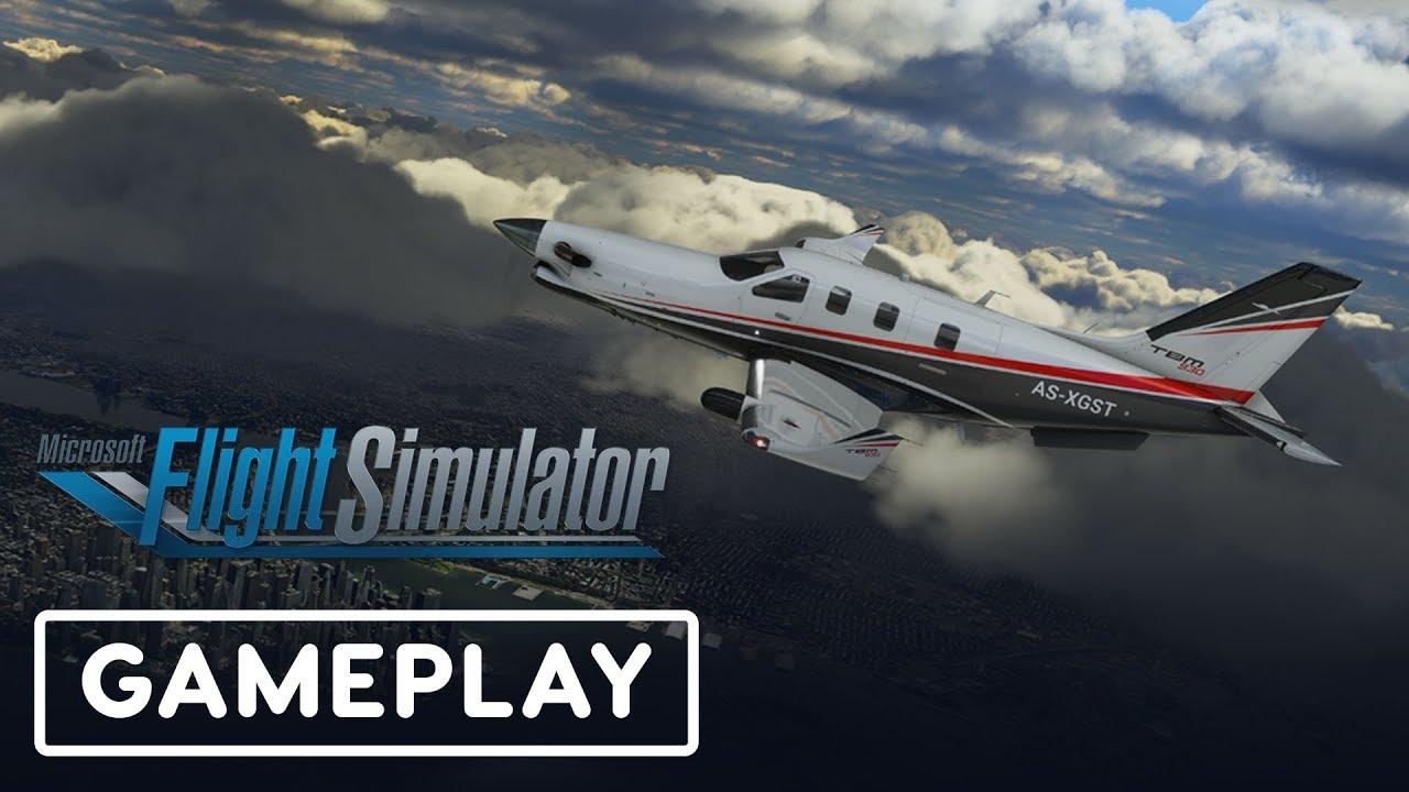 Microsoft Flight Simulator - Taking Off Gameplay - YouTube