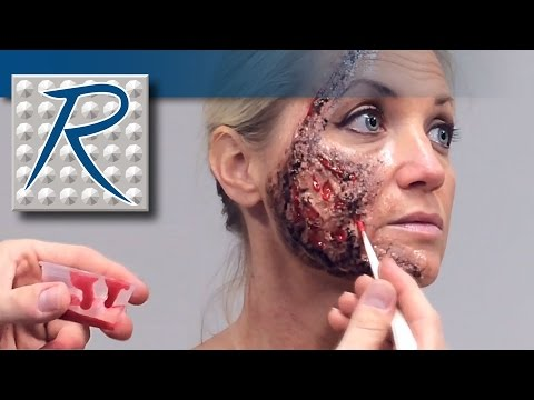 Special Effects Makeup Tutorial Face Burn Wound Made