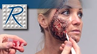 Special Effects Makeup Tutorial - Face Burn Wound Made Using Skin Tite® Silicone