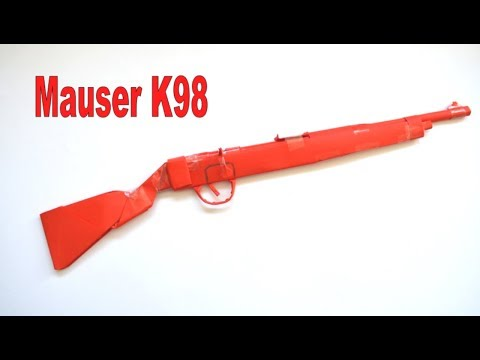 How to make a paper gun - Mauser K98 - DIY - paper toy - origami