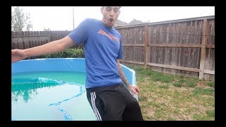 I ALMOST PUSHED HIM IN THE POOL!!