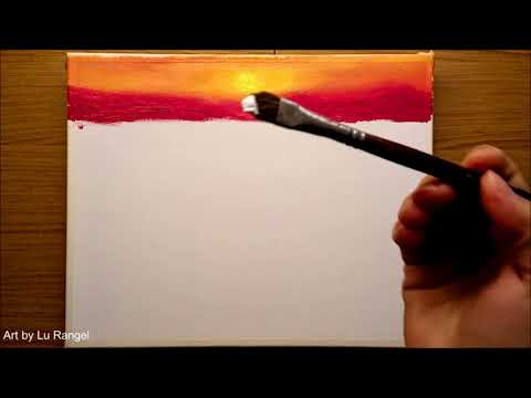 Acrylic Painting Turquoise Sea / Tutorial step by step for Beginners / #05