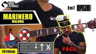 Cómo tocar Marinero de Maluma en Guitarra | Tutorial FÁCIL + PDF GRATIS
