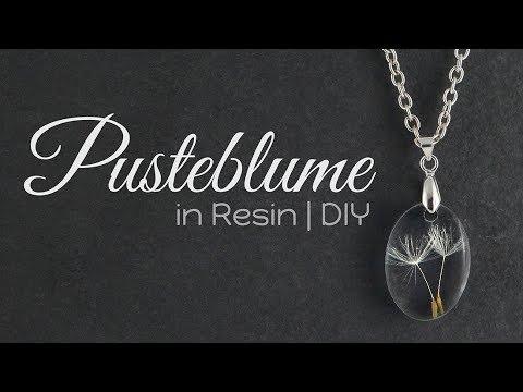 Pusteblume Resin Kette | Schmuck DIY | Anleitung Gießharz Tutorial | How to: Halskette selber machen