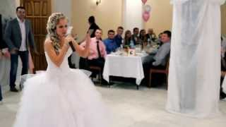 Невеста читает рэп на свадьбе. Йошкар-Ола
