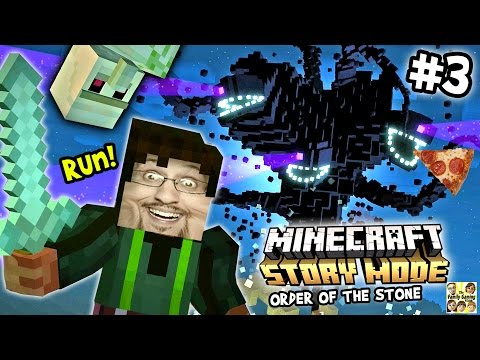 Lets Play Minecraft Story Mode #3: Stop Playing Around Duddy (Episode One: The Order of the Pizza)