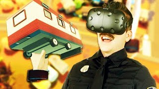 Trailer Park Shakedown! - Giant Cop: Justice Above All Gameplay - VR HTC Vive