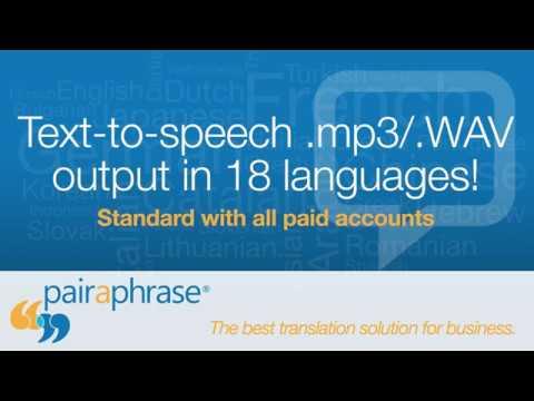 Text-to-Speech Translation Audio Samples - Pairaphrase