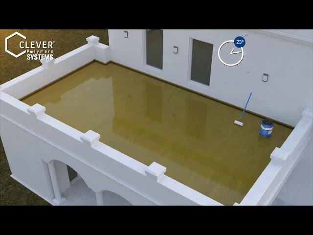 Cách thi công chống thấm sàn mái trồng cây bằng clever 400 bt vietsub