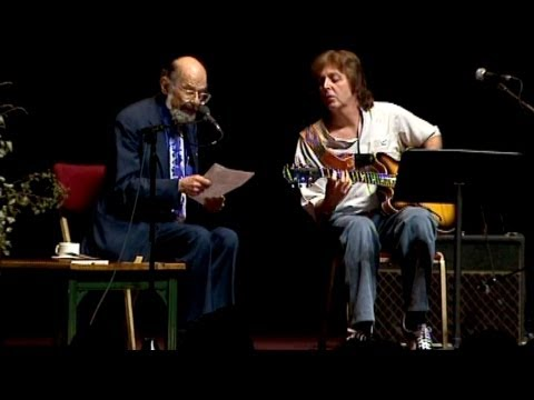 "Allen Ginsberg and Paul McCartney playing ""A Ballad of American Skeletons"""