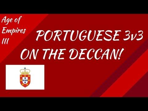 Portugese 3v3 on the Deccan! AoE III