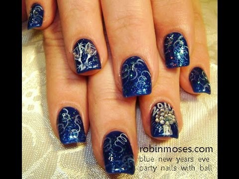 Easy Nye Nails Diy New Years Eve Nail Art Design Tutorial Youtube