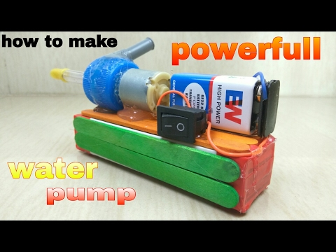 How To Make POWERFULL - Water Pump - At Home