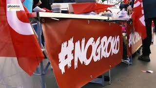 Proteste beim außerordentlichen Parteitag der SPD am 21.01.18