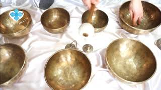 Поющие чаши набор 5. Поющие чаши для массажа и звукотерапии.