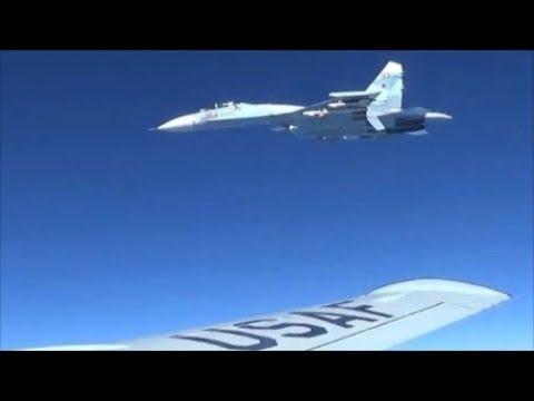 Russian Sukhoi Su-27 Intercepted a U.S. EP-3 Aries Over Black Sea || Jan. 29, 2018