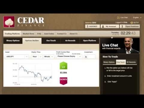 Cedar Finance Broker Review - Binary Options