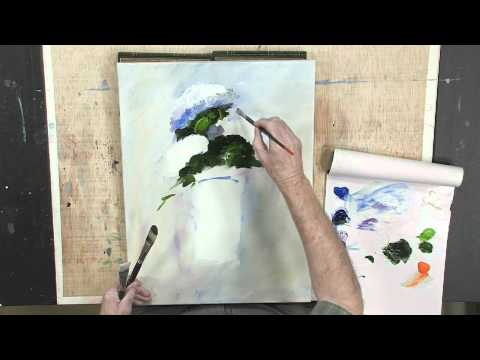 How to Paint Abstract Flowers Using Lukas Berlin Oils: Part 2