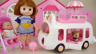 Baby Doll and Rabbit camping car Picnic toys play thumbnail