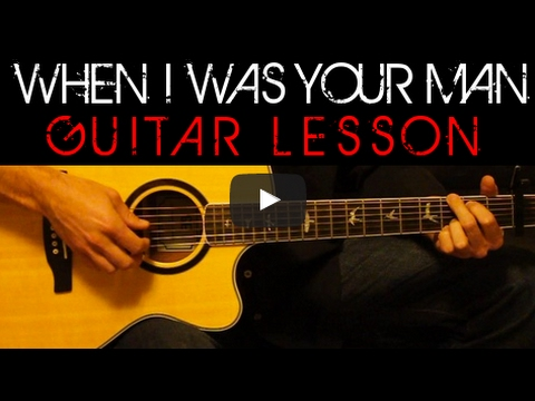 Bruno Mars - When I Was Your Man Easy Acoustic Guitar Tutorial ...