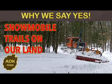 SNOWMOBILE TRAILS On PRIVATE LAND - ADIRONDACK PARK