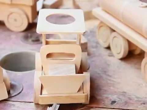 Juguetes de madera mies navidad de oportunidades youtube - Muebles de juguete en madera ...