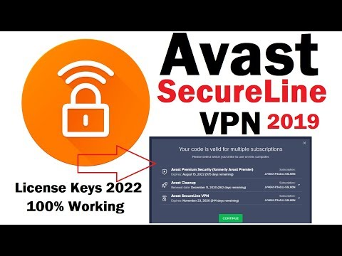 Avast SecureLine VPN 2019 License Keys 2021