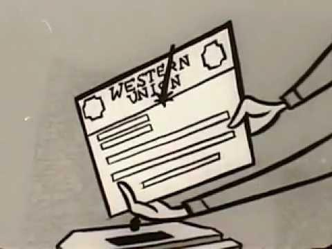 VINTAGE 1950s ERA WESTERN UNION TELEGRAM COMMERCIAL