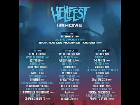 'Hellfest Open Air Festival' at home! .. virtual festival June 19 to 21..!