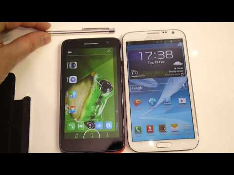 Alcatel OneTouch Scribe HD vs Samsung Galaxy Note II - first look