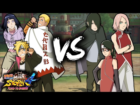Uzumaki Family vs Uchiha Family - NARUTO SHIPPUDEN Ultimate Ninja STORM 4 Road to Boruto