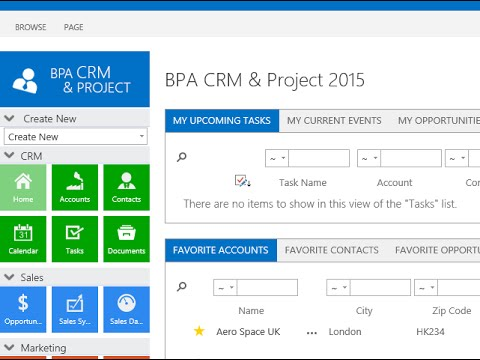 BPA CRM 2015 for Microsoft SharePoint - YouTube