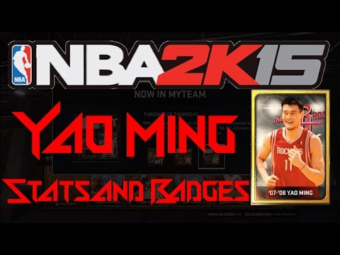 NBA2K15 MyTeam: NEW Yao Ming Card! Stats + Badges!