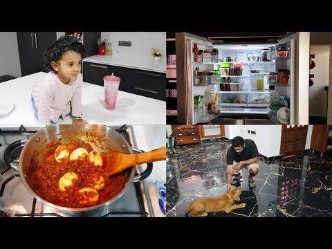 dinner-to-lunch-vlog---fridge-organization---neer-dosa-&-egg-roast---diy-all-purpose-cleaner