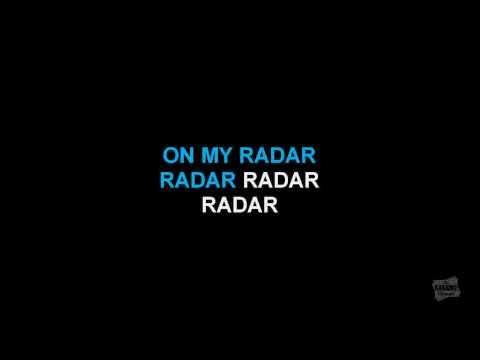 Radar in the style of Britney Spears karaoke video version with lyrics
