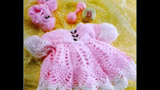 Детские платья крючком. Baby Dresses Crocheting. Babyhäkelarbeit Kleid