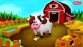 10 Farm Animals 🐄 Learn their Names + Sounds 🐖 Animal Story App for Kids