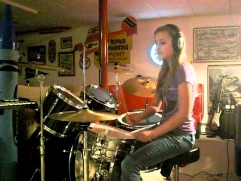 "16 Year Old Girl Drummer ""Animals"" by Nickelback (Drum Cover)"