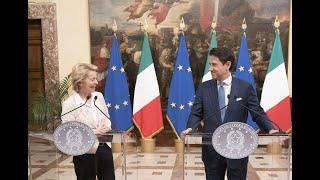 Il Presidente Conte incontra la Presidente eletta della Commissione europea Ursula von der Leyen
