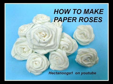 How To Make Paper Roses From Paper Towels Paper Crafting Wedding Decor Party Decor